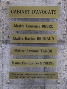 François des minières - Cabinet d'avocats Angoulême